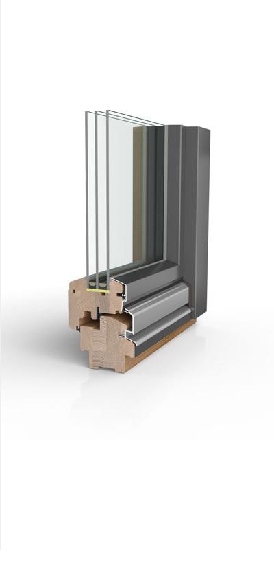 Holzfenster HW97 mit wetterfester Schale