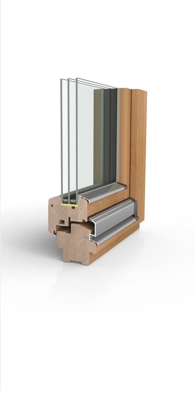 Holzfenster H90 mit 3fach-Wärmeschutzverglasung