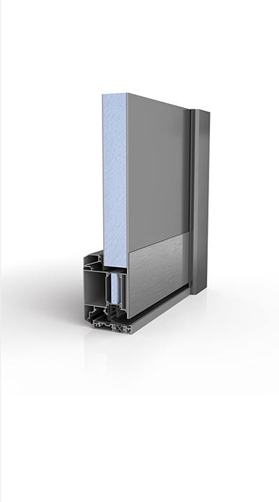 Querschnitt Aluminiumhaustür - Ausführung: Standard