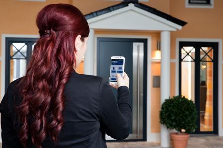 Smartphone mit ekey-App