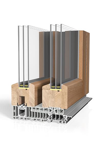 Hebeschiebetür Holz HST H90