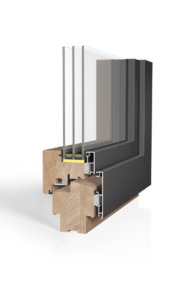Holz/Alu-Fenster HA97MV SAFE