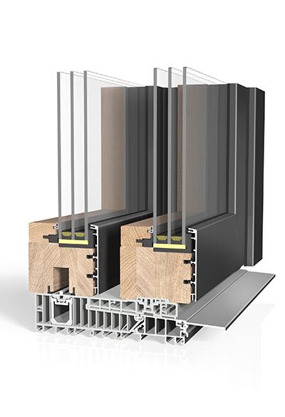 Hebeschiebetür Holz/Aluminium HST HA97