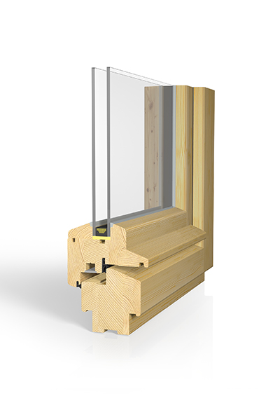 Holzfenster H80D Stilfenster SAFE natur
